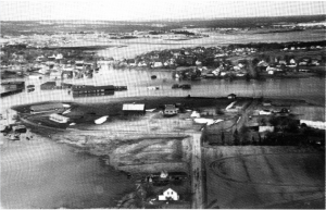The 1962 freshwater flood inundated low lying areas of Sackville, including Lorne, Bridge and Charles Streets