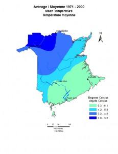 Average 1971-2000 Mean Temperature