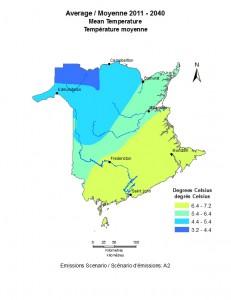 Average 2011-2040 Mean Temperature