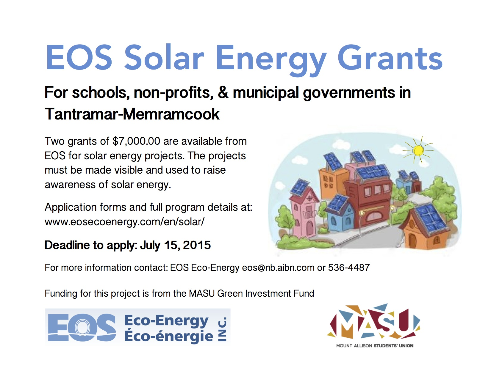EOS has Solar Energy Grants for Non-profits, Schools, and