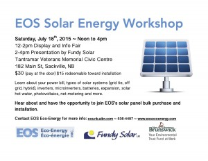 solar energy workshop Poster